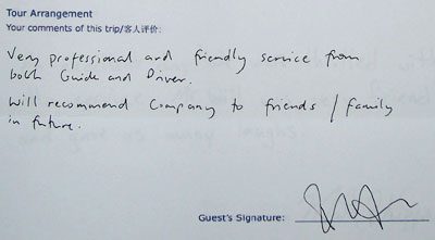 Mountain Huangshan Tour Testimonial, click here to see more.